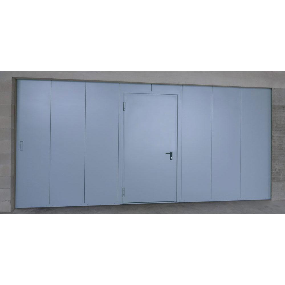 Πόρτες πυρασφαλείας συρόμενες - Με ανθρωποθυρίδα